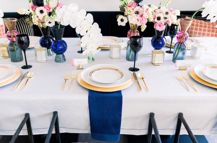 Floral Glam Dining Table from a Valentine's Dinner Party on Kara's Party Ideas | KarasPartyIdeas.com (29)
