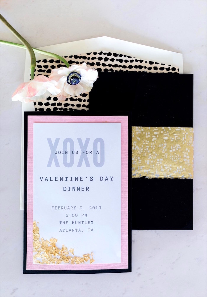XOXO Valentine's Party Invite from a Valentine's Dinner Party on Kara's Party Ideas | KarasPartyIdeas.com (16)