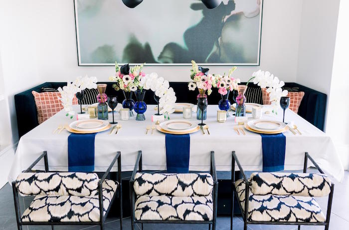 Valentine's Day Party Table from a Valentine's Dinner Party on Kara's Party Ideas | KarasPartyIdeas.com (12)