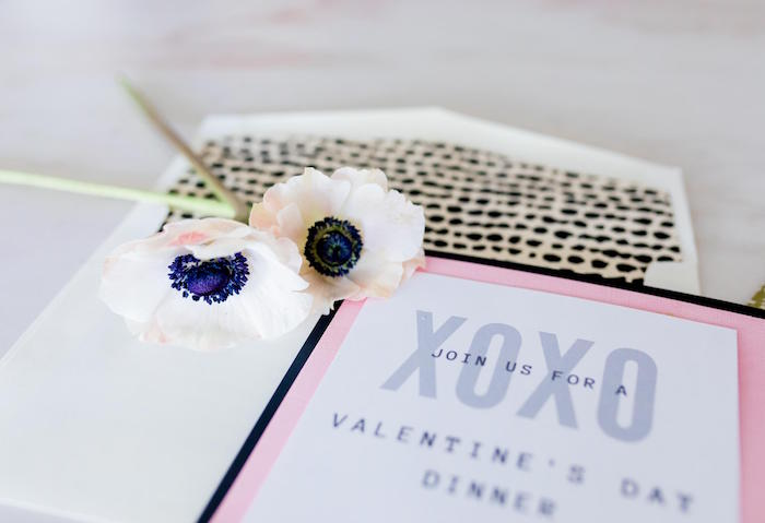 XOXO Party Invite from a Valentine's Dinner Party on Kara's Party Ideas | KarasPartyIdeas.com (11)