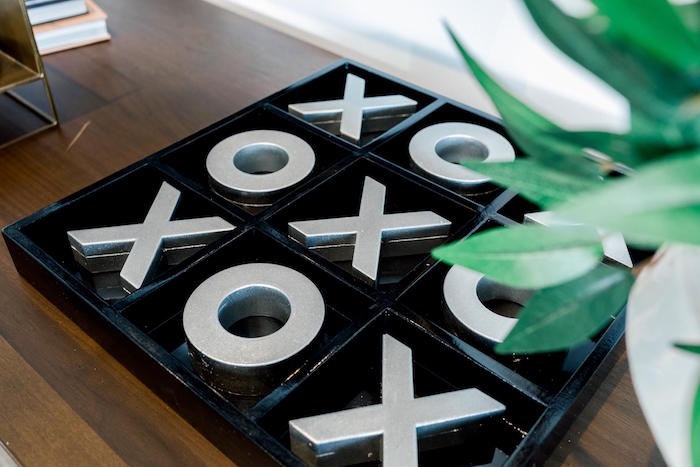 Tic-tac-toe game from a Valentine's Dinner Party on Kara's Party Ideas | KarasPartyIdeas.com (7)