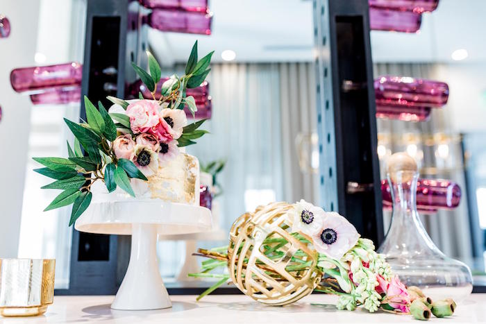 Floral Cake Table from a Valentine's Dinner Party on Kara's Party Ideas | KarasPartyIdeas.com (35)