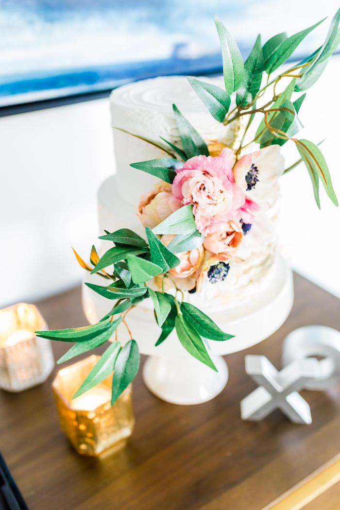 Floral Cake Garland from a Valentine's Dinner Party on Kara's Party Ideas | KarasPartyIdeas.com (33)