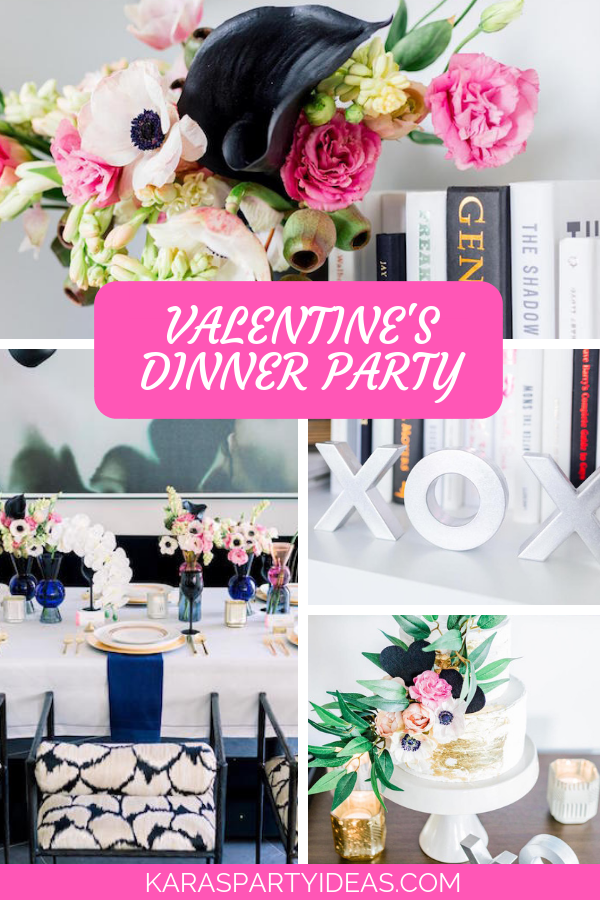 Valentine's Dinner Party via Kara's Party Ideas - KarasPartyIdeas.com