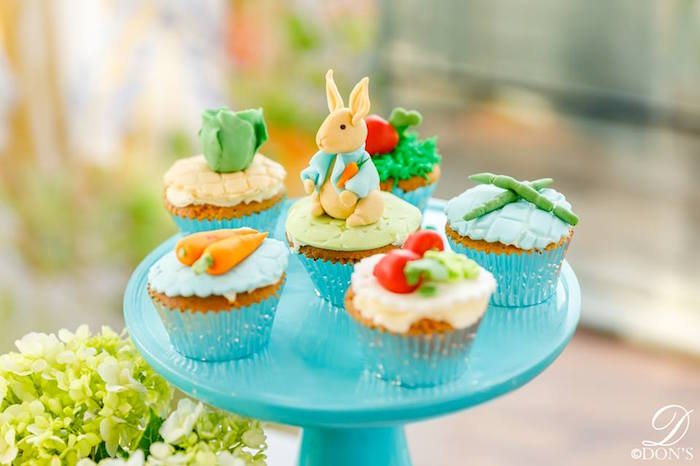 Peter Rabbit Cupcakes from a Vintage Peter Rabbit Birthday Party on Kara's Party Ideas | KarasPartyIdeas.com (22)