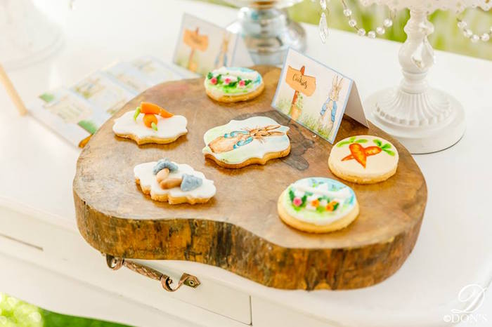 Peter Rabbit Cookies from a Vintage Peter Rabbit Birthday Party on Kara's Party Ideas | KarasPartyIdeas.com (20)