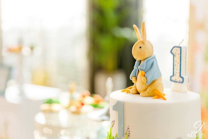 Peter Rabbit Cake from a Vintage Peter Rabbit Birthday Party on Kara's Party Ideas | KarasPartyIdeas.com (15)