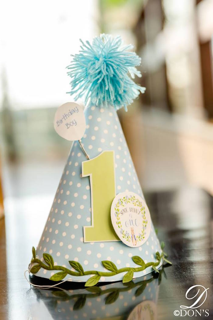 Party Hat from a Vintage Peter Rabbit Birthday Party on Kara's Party Ideas | KarasPartyIdeas.com (14)