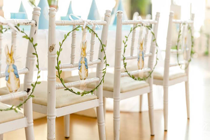 Peter Rabbit Garden Hoop Chairs from a Vintage Peter Rabbit Birthday Party on Kara's Party Ideas | KarasPartyIdeas.com (8)