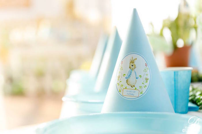Peter Rabbit Party Hats from a Vintage Peter Rabbit Birthday Party on Kara's Party Ideas | KarasPartyIdeas.com (27)