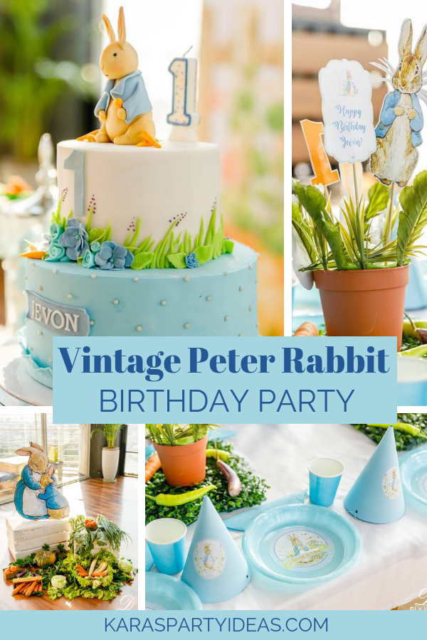 Vintage Peter Rabbit Birthday Party via Kara's Party Ideas - KarasPartyIdeas.com.png