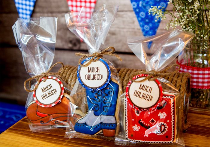 "Western Themed Party Favors from a ""Best in the West"" Teacher & Staff Appreciation Week Party on Kara's Party Ideas 