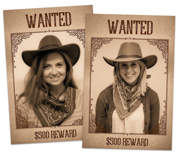 "Wanted Posters from a ""Best in the West"" Teacher & Staff Appreciation Week Party on Kara's Party Ideas 
