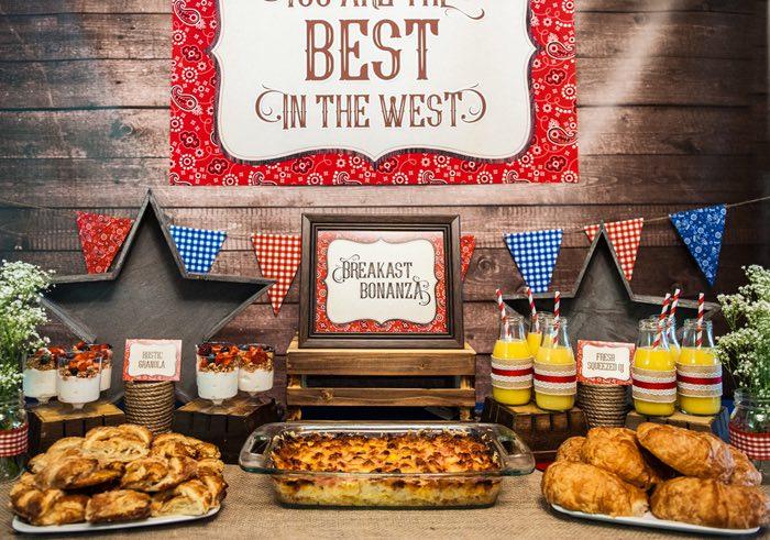 "Breakfast Bonanza - Food Table from a ""Best in the West"" Teacher & Staff Appreciation Week Party on Kara's Party Ideas | KarasPartyIdeas.com (19)"