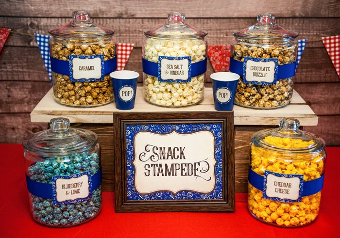 "Snack Stampede Bar from a ""Best in the West"" Teacher & Staff Appreciation Week Party on Kara's Party Ideas 