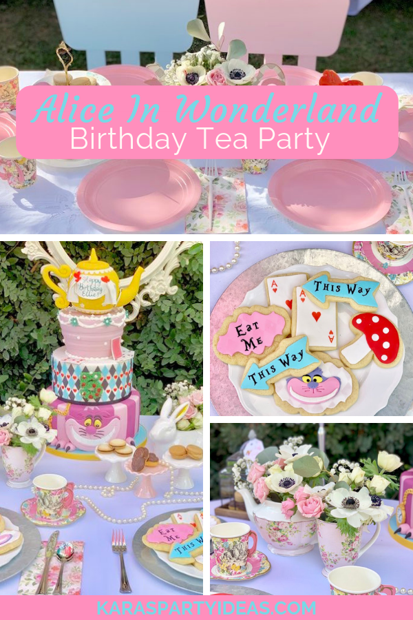 Alice In Wonderland Birthday Tea Party via Kara's Party Ideas - KarasPartyIdeas.com