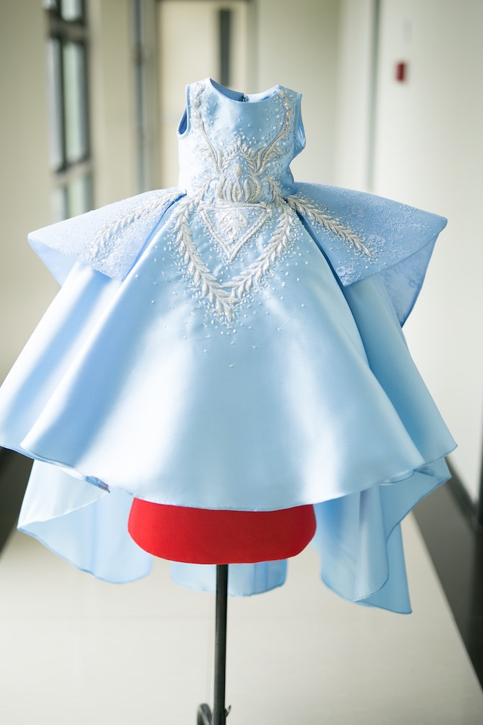 Blue Princess Dress from an Alice in Wonderland First Birthday Party on Kara's Party Ideas | KarasPartyIdeas.com (15)