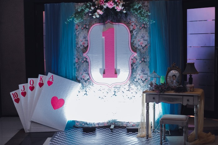 Alice in Wonderland First Birthday Party on Kara's Party Ideas | KarasPartyIdeas.com (10)