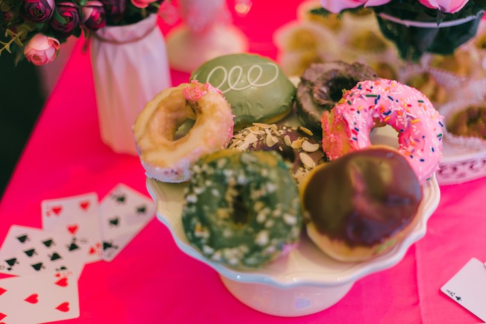 Donuts from an Alice in Wonderland First Birthday Party on Kara's Party Ideas | KarasPartyIdeas.com (9)