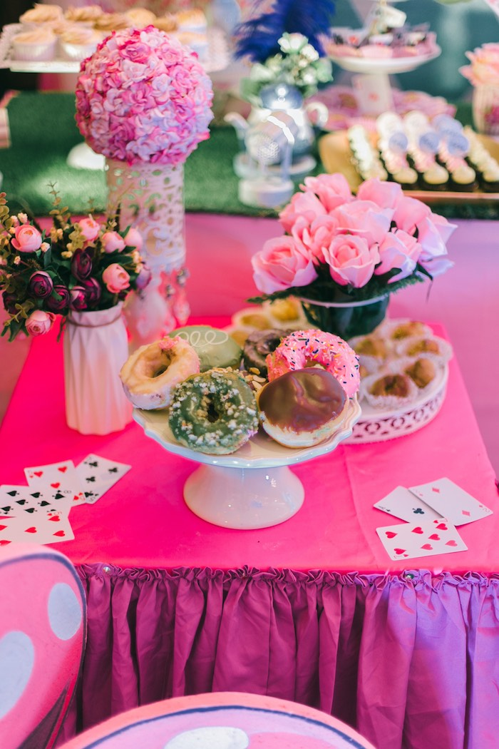 Sweet Table from an Alice in Wonderland First Birthday Party on Kara's Party Ideas | KarasPartyIdeas.com (8)