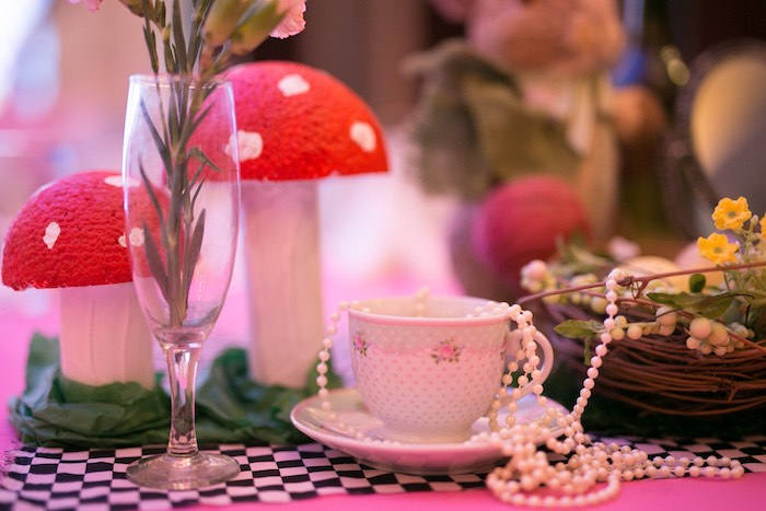 Tea Cup + Pearl Strand from an Alice in Wonderland First Birthday Party on Kara's Party Ideas | KarasPartyIdeas.com (6)
