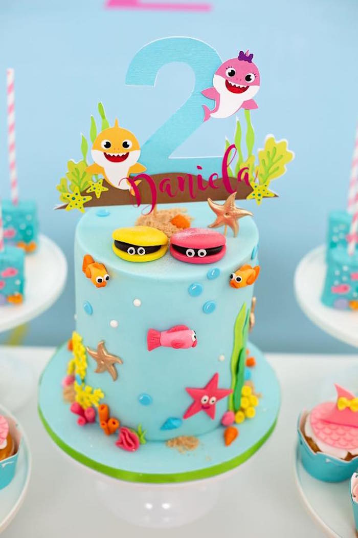 Pleasant Karas Party Ideas Baby Shark Birthday Party Karas Party Ideas Funny Birthday Cards Online Fluifree Goldxyz