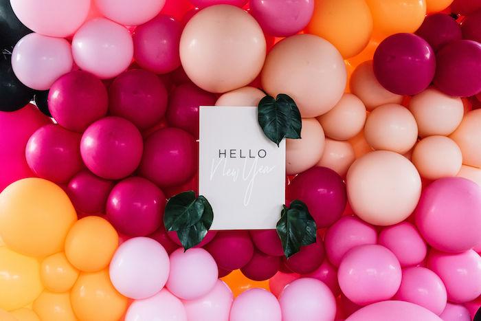 """Hello"" Balloon Wall Installation from a Backyard Summer Fling on Kara's Party Ideas | KarasPartyIdeas.com (12)"