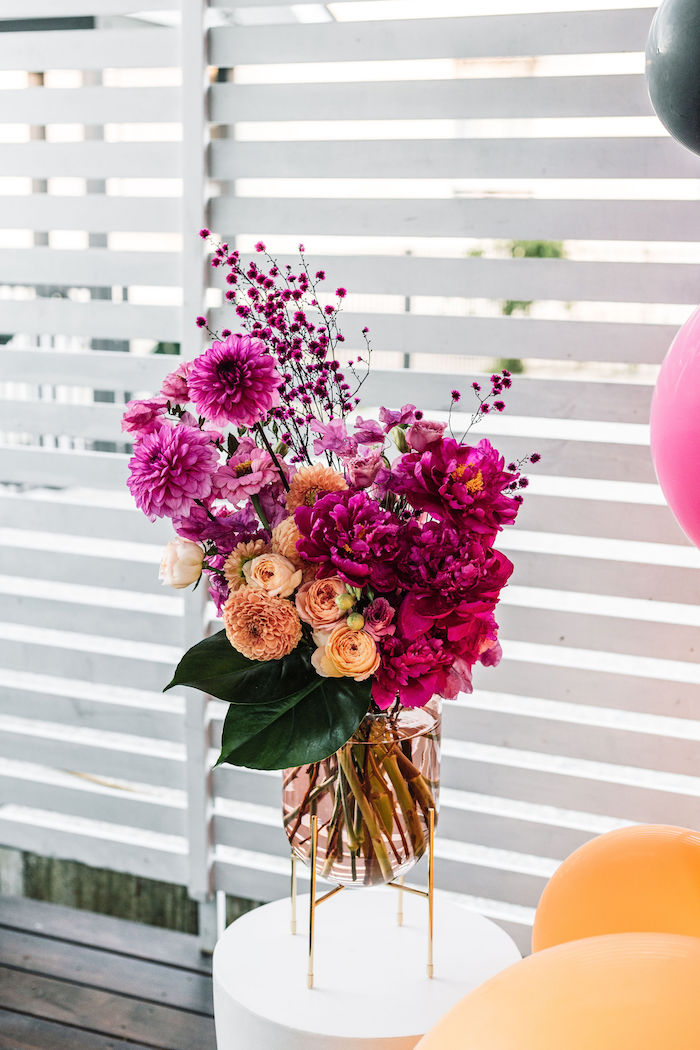 Bright and Beautiful Summer Blooms from a Backyard Summer Fling on Kara's Party Ideas | KarasPartyIdeas.com (11)
