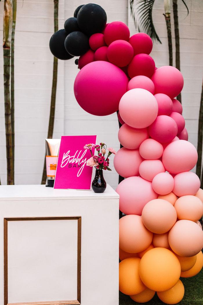 Bubbly Balloon Bar from a Backyard Summer Fling on Kara's Party Ideas | KarasPartyIdeas.com (8)