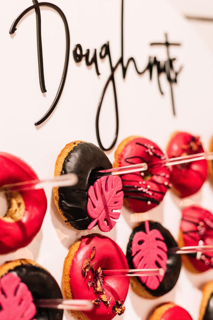 Doughnuts + Doughnut Board from a Backyard Summer Fling on Kara's Party Ideas | KarasPartyIdeas.com (6)