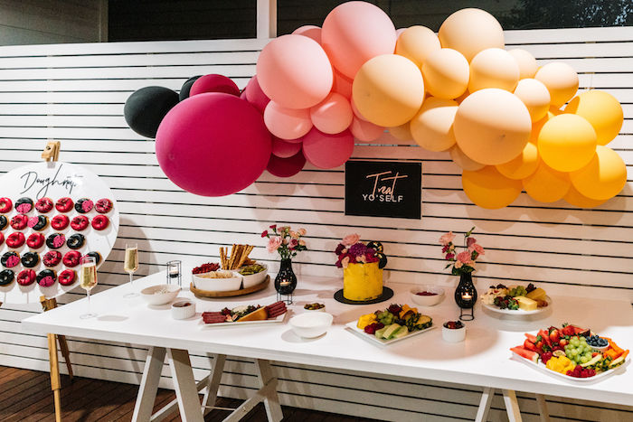 Summer-inspired 'Treat Yourself' Party Table from a Backyard Summer Fling on Kara's Party Ideas | KarasPartyIdeas.com (5)