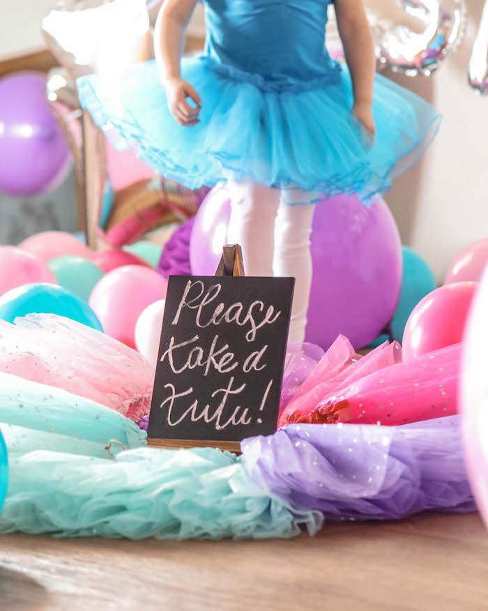 """Take a tutu"" from a Ballerina Birthday Party on Kara's Party Ideas | KarasPartyIdeas.com (14)"