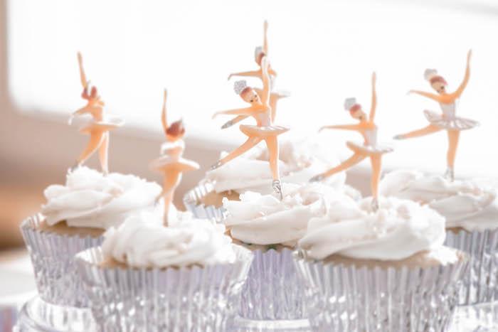 Ballerina Cupcakes from a Ballerina Birthday Party on Kara's Party Ideas | KarasPartyIdeas.com (13)