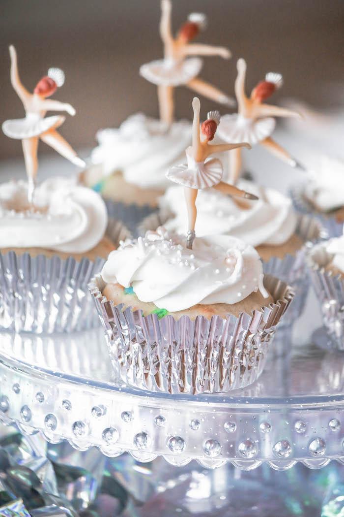Ballerina Cupcakes from a Ballerina Birthday Party on Kara's Party Ideas | KarasPartyIdeas.com (10)