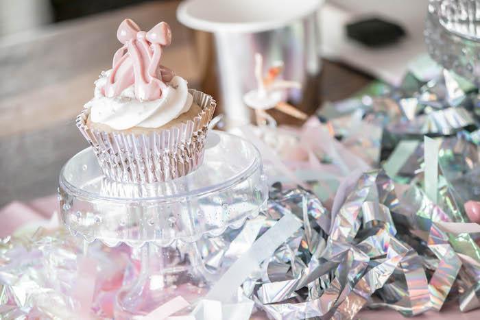 Ballet Slipper Cupcake from a Ballerina Birthday Party on Kara's Party Ideas | KarasPartyIdeas.com (8)