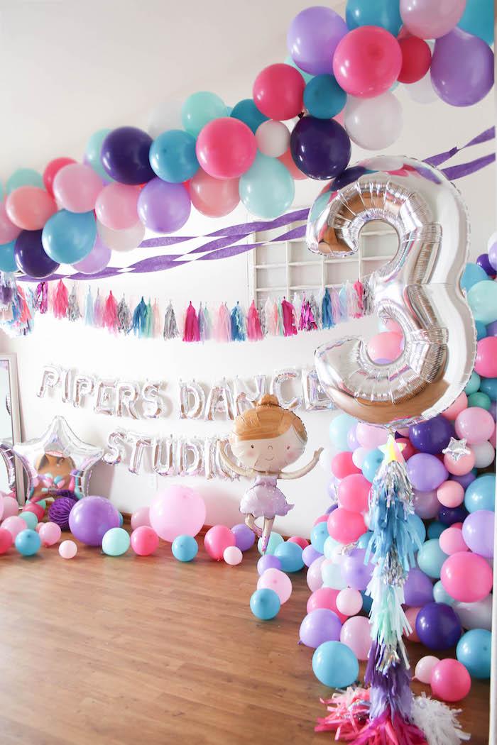 Ballerina Balloon Dance Studio from a Ballerina Birthday Party on Kara's Party Ideas | KarasPartyIdeas.com (27)