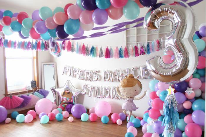 Ballerina Balloon Dance Studio from a Ballerina Birthday Party on Kara's Party Ideas | KarasPartyIdeas.com (26)
