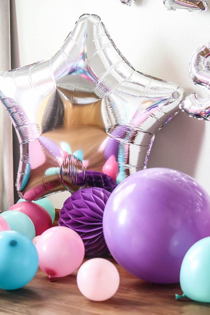 Balloons + Tissue Ball Decorations from a Ballerina Birthday Party on Kara's Party Ideas | KarasPartyIdeas.com (22)