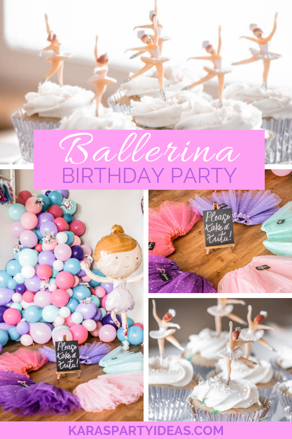 Ballerina Birthday Party via KarasPartyIdeas - KarasPartyIdeas.com
