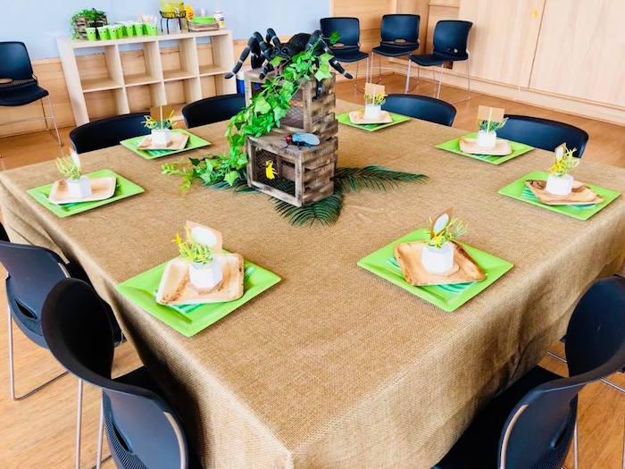Bug Themed Kid Table from a Birthday Bug Bash on Kara's Party Ideas | KarasPartyIdeas.com (19)