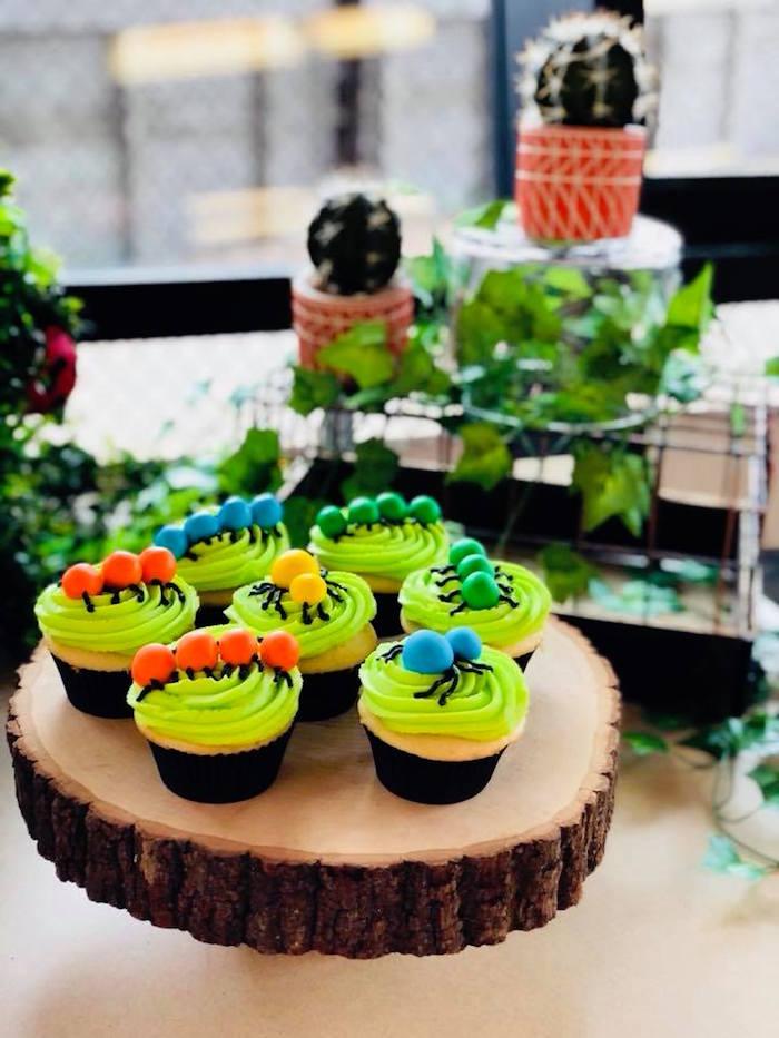 Bug Cupcakes from a Birthday Bug Bash on Kara's Party Ideas | KarasPartyIdeas.com (17)