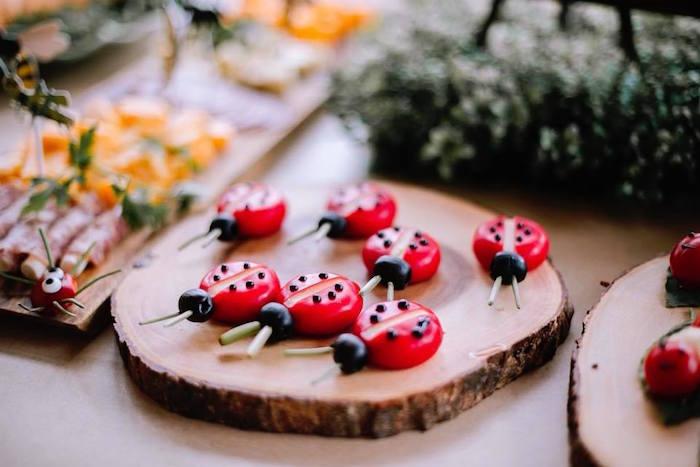 Cheese Ladybugs from a Birthday Bug Bash on Kara's Party Ideas | KarasPartyIdeas.com (31)