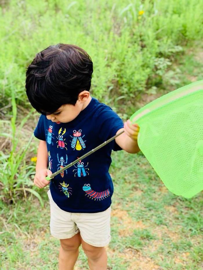 Bug Netting from a Birthday Bug Bash on Kara's Party Ideas | KarasPartyIdeas.com (11)