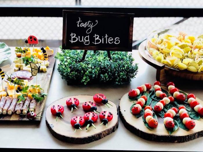 Tasty Bug Bites + Bug Themed Food Table from a Birthday Bug Bash on Kara's Party Ideas | KarasPartyIdeas.com (7)