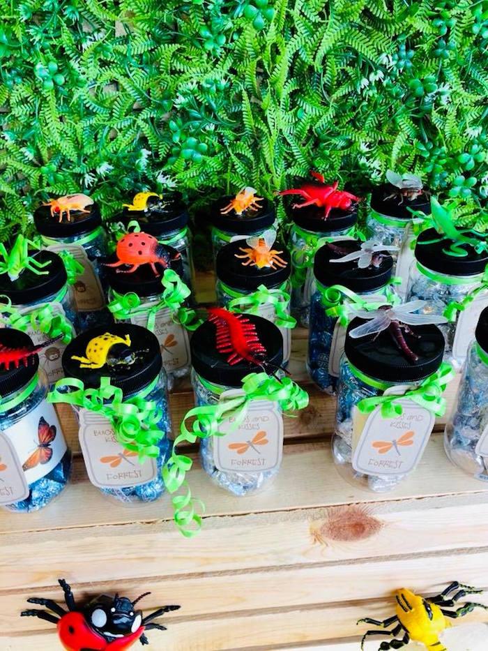 Bug Favor Jars from a Birthday Bug Bash on Kara's Party Ideas | KarasPartyIdeas.com (5)