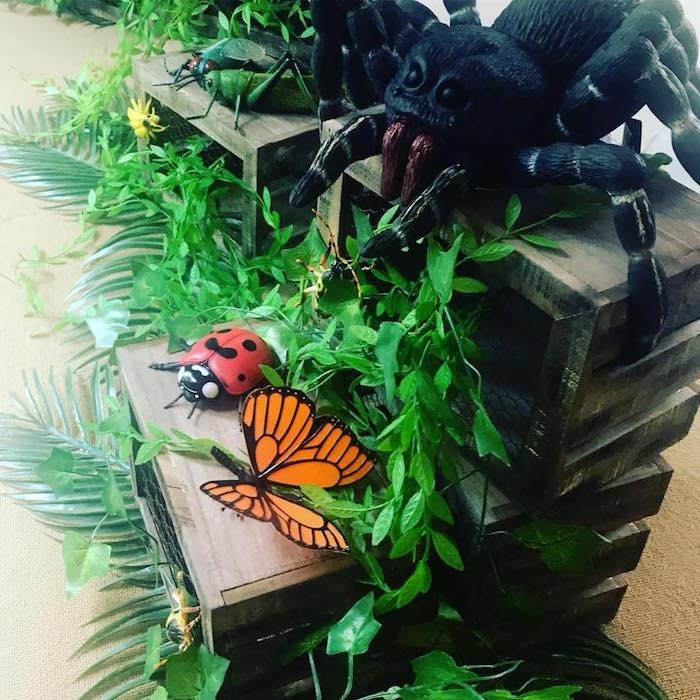Bug Themed Table Centerpiece from a Birthday Bug Bash on Kara's Party Ideas | KarasPartyIdeas.com (30)