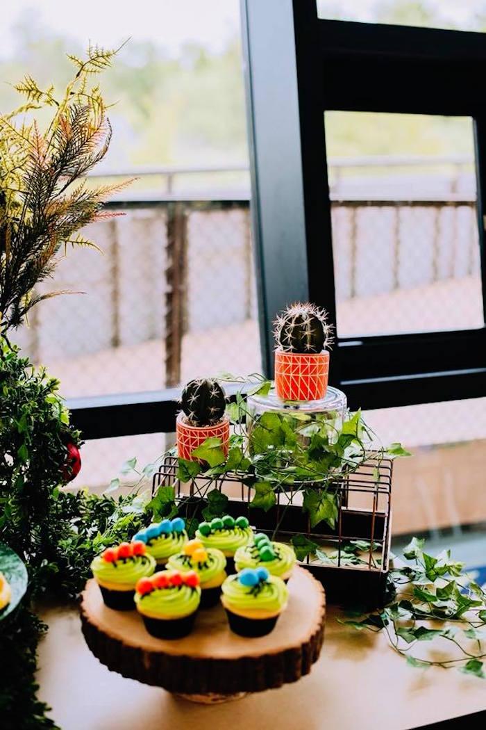 Cacti & Greenery from a Birthday Bug Bash on Kara's Party Ideas | KarasPartyIdeas.com (28)