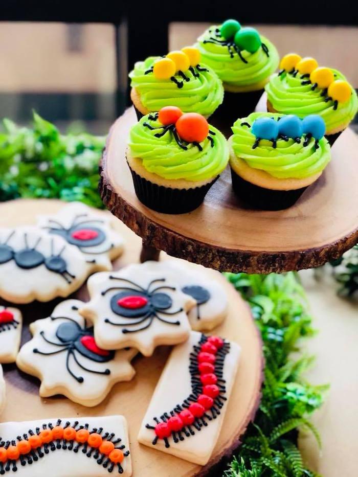 Big Cupcakes + Cookies from a Birthday Bug Bash on Kara's Party Ideas | KarasPartyIdeas.com (27)