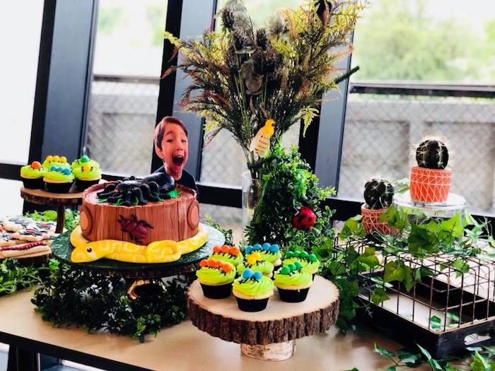 Big Themed Dessert Table from a Birthday Bug Bash on Kara's Party Ideas | KarasPartyIdeas.com (26)