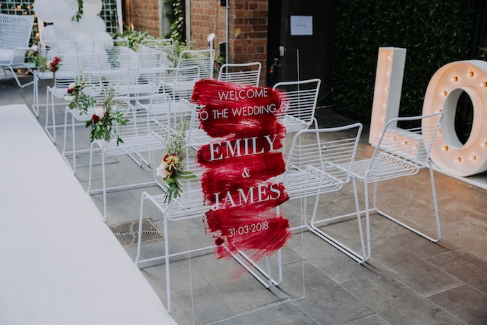 Chic Modern Rooftop Wedding on Kara's Party Ideas   KarasPartyIdeas.com (19)